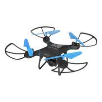 Drone Multilaser Bird Câmera HD 1280P Bateria 22 minutos Alcance de 80m Flips em 360 Controle remoto Preto/Azul - ES255 -