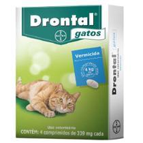 DRONTAL GATOS cx com 4 comprimidos Bayer -