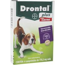 Drontal Plus Bayer Vermífugo Sabor Carne para Cães até 10 Kg - 2 Comprimidos -