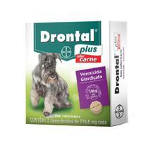 DRONTAL PLUS - para Cães até 10kg cx com 2 comprimidos sabor carne - Bayer -