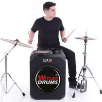 Drum Box Set Para Canhoto  Witler Drums  Bateria Cajón -