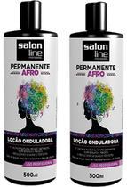 Duas Unidades Da Loção Onduladora Permanente Afro Salon Line -