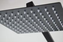 Ducha Chuveiro Quadrado Slim 20x20 Inox Preto Fosco -