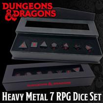 Dungeons & Dragons: Heavy Metal 7 RPG Dice Set (INGLÊS) - Galápagos Jogos