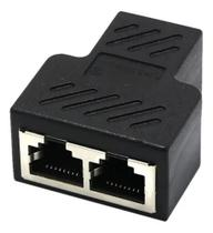 Duplicador Conector Extensor Rj45 Splitter Plug T Preto - Master