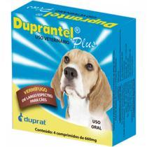 Duprantel plus vermífugo para cães - 4 comprimidos - Duprat