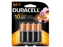 Duracell Duralock Pilha Alcalina AA com 8 Unidades -