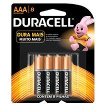 Duracell Duralock Pilha Alcalina AAA c/ 8 -