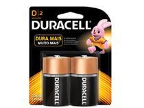 Duracell Pilha Alcalina D - 2 unidades -