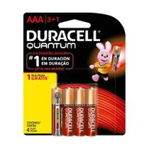 Duracell Pilha Super Alcalina AAA Quantum Leve 4 Pague 3 -