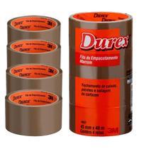 Durex Fita Adesiva Marrom 3M 45mmx40m C/4 Rolos -