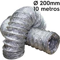 Duto flexível aluminizado 200mm com 10 metros - Sicflux