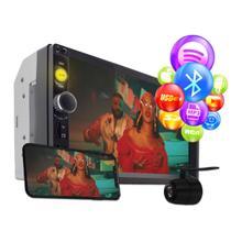 Dvd 2 Din Central Multimídia Universal Mp5 Câmera Bt Espelhamento - Oestesom