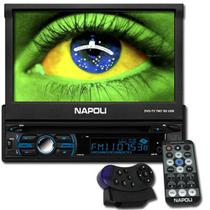 Dvd Automotivo 1 Din 7.0 Retrátil Napoli DVD-TV 7967 Sd Usb Bluetooth -