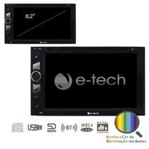 Dvd Automotivo 2 Din 6,2 Usb Bluetooth + Com Espelhamento - E-Tech