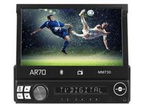 "DVD Automotivo AR70 MM730 Retrátil LCD 7"" Touch - Bluetooth Entrada USB e Auxiliar TV Digital"
