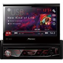 DVD Automotivo com Tela Retratil 7 CD/USB/AUX/FM/AM AVH3880DVD Pioneer -