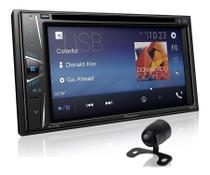 DVD Automotivo Pioneer AVH-G218BT 6.2 polegadas Touch BT AUX USB DVD FM + Câmera de Ré Borboleta -