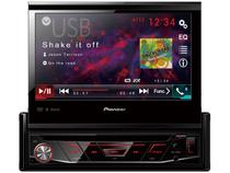 "DVD Automotivo Pionner AVH-3180BT Tela LCD 7"" - Retrátil Touch 23 Watts RMS Entrada Câmera de Ré"