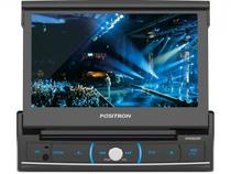 DVD Automotivo Pósitron SP6320 Retrátil Tela 7 - Touch Screen Entradas USB Aux e p/ Câmera de Ré