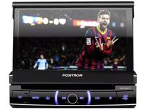 "DVD Automotivo Pósitron SP6720 LCD TV 7"" Retrátil - Touch Bluetooth 80W RMS Entrada Câmera de Ré USB"
