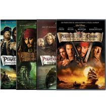 DVD - Combo Piratas do Caribe (4 DVDs) - Disney