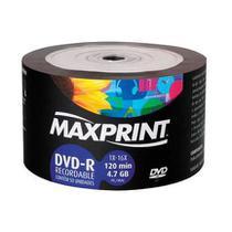 Dvd  Maxprint - 120min - 4,7gb - 50un -