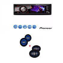 Dvd Pioneer Dvh-7880av Tela 3  Usb  e  Kit Par Auto Falante Quadriaxial Orion 6 E 6x9 Pol -