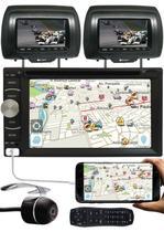 DVD Player 2 Din E-Tech + 2 Encosto AV + Câmera Ré -