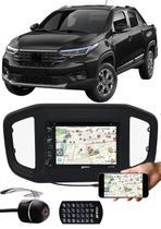 """DVD Player 2 Din Fiat Strada 2020 2021 6.2"""" Polegadas Espelhamento Bluetooth USB SD Card + Moldura Painel + Câmera de Ré - Ludovico + Tiger / E-Tech / H-Tech"""