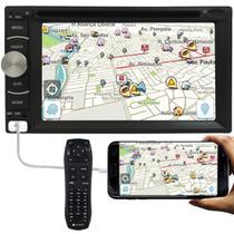 """DVD Player Automotivo 2 Din E-Tech Universal Tela 6.2"""" Espelhamento Bluetooth USB Cartão Memória -"""