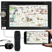 """DVD Player Automotivo 2 Din E-Tech Universal Tela 6.2"""" Espelhamento Bluetooth USB Rádio + Câmera de Ré -"""
