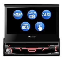 DVD Player Automotivo Pioneer 1 Din Retrátil AM FM USB AUX Touch Screen Produto Refurbished Outlet
