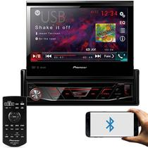 """DVD Player Automotivo Pioneer AVH-3180BT 1 Din Retrátil Tela 7"""" BT USB AUX MP3 WMA Com Controle -"""