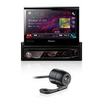 DVD Player Automotivo Pioneer AVH-3180BT Retrátil 7 Polegadas Leitor CD Bluetooth USB SD FM AUX + Câmera de Ré - Gold