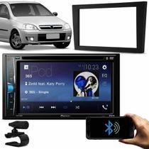 "DVD Player Automotivo Pioneer AVH-A208BT 2 Din 6.2"" Bluetooth Android iOS USB + Moldura Corsa Vectra - Kit Som e Vídeo"