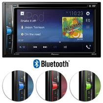 DVD Player Automotivo Pioneer AVH-A208BT 2 Din 6.2 Pol Bluetooth Android iOS USB AUX MP3 Rádio AM FM