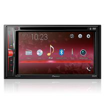 DVD Player Automotivo Pioneer AVH-A218BT Preto Tela de 6.2 Bluetooth Entrada USB -