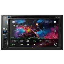 "DVD Player Automotivo Pioneer AVH-G218BT, 2 DIN, 6,2"" WVGA, Bluetooth, Entrada Auxiliar, USB -"