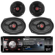 DVD Player Automotivo Pioneer DVH-8880AVBT 1 Din 3.5 Pol Bluetooth USB AUX MP3 + Kit Fácil Foxer - Prime