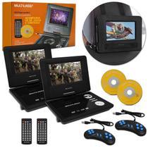 """DVD Player Automotivo Portátil Multilaser AU710 7"""" USB AUX MP3 MP4 Função Game Joystick Bivolt Par -"""