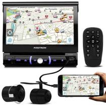 """DVD Player Automotivo Pósitron SP6330BT 1 Din 7"""" Retrátil BT Espelhamento USB MP3 + Câmera Ré 2 em 1 - Positron"""