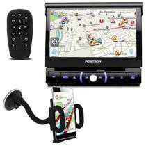 """DVD Player Automotivo Pósitron SP6330BT 1 Din 7"""" Retrátil BT Espelhamento USB MP3 + Suporte GPS - Positron"""