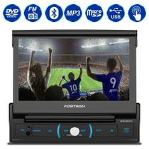"DVD Player Automotivo Pósitron SP6730DTV 1 Din 7"" Bluetooth USB Espelhamento Android Retrátil TV MP3 -"