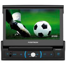 DVD Player Automotivo Pósitron SP6730DTV com Tela 7 Touchscreen Retrátil Bluetooth, Entrada USB e Rádio FM/AM - Positron
