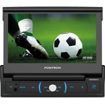 Dvd Player Automotivo Positron SP6730DTV Retrátil Tela 7'' DVD/TV/Bluetooth/USB/SD/AUX/FM/Espelham.