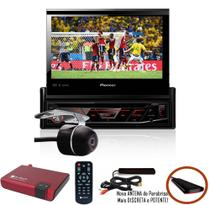 DVD Player Automotivo Retrátil Pioneer AVH-3180BT Tela 7 Polegadas Com Bluetooth Entrada USB + Câmera de Ré + Receptor Sintonizador TV Digital -