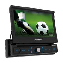 "DVD Player Automotivo SP6730DTV 1 Din 7"" Retrátil Espelhamento Android TV Digital BT USB MP3 Pósitron com Câmera de Ré - Positron"