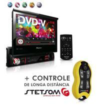 "Dvd Player Avh-3880Dvd 7"" 1Din Entrada Usb Am Fm Retrátil + Controle SX2 Amarelo - Pioneer"