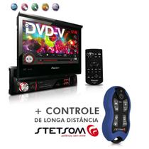 "Dvd Player Avh-3880Dvd 7"" 1Din Entrada Usb Am Fm Retrátil + Controle SX2 Azul - Pioneer"